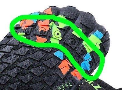 aqua shoe drainage holes